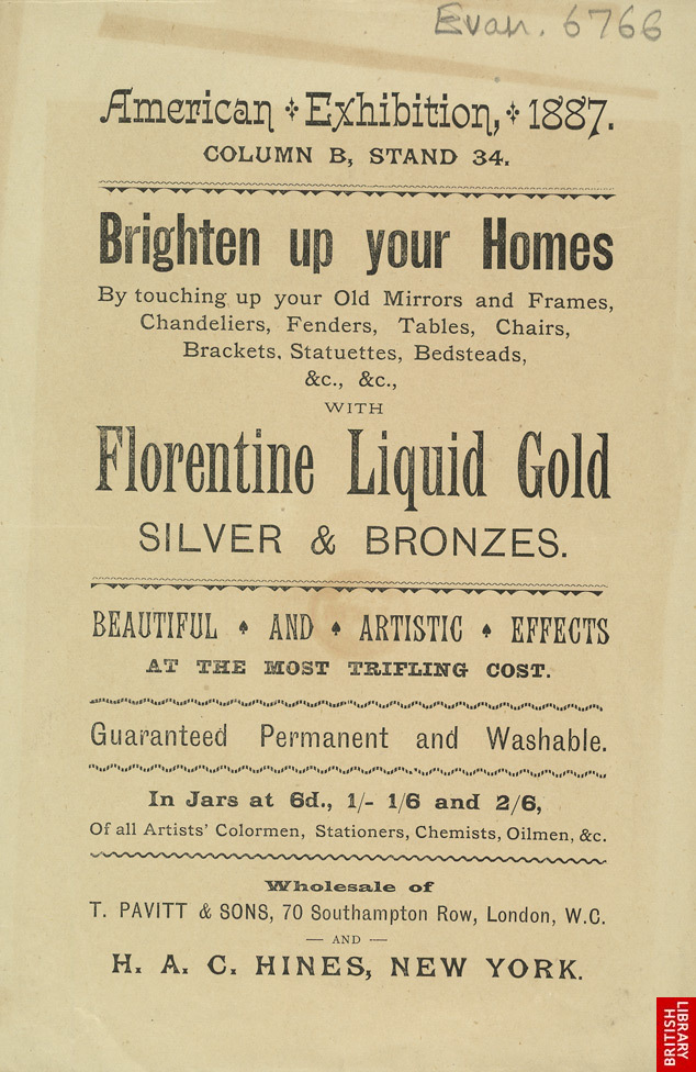 Advert For Florentine Liquid Gold Polish